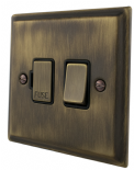 Deco Plate Antique Bronze Fused Spur Switches